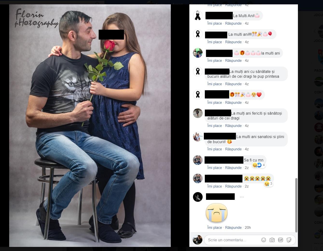 Florin nu a mai apucat să își sune fetița pentru a-i ura