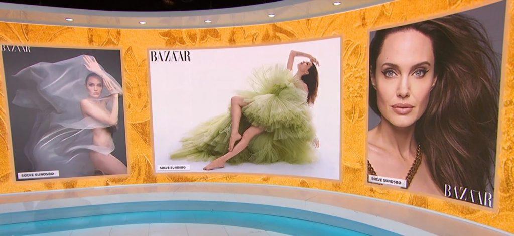 La 44 de ani, Angelina Jolie a acceptat să facă un pictorial nud pentru revista Harper's Bazaar @ captură NBC News