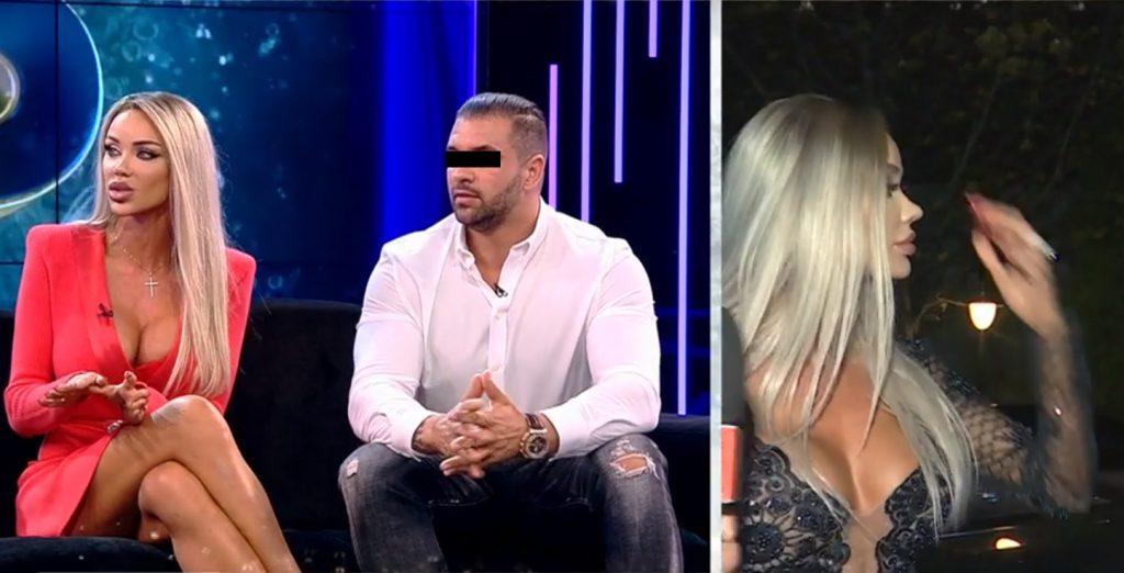 Bianca Drăgușanu și soțul ei, pe canapeaua de la XNS în cadrul ediției de seara trecută © Antena 1