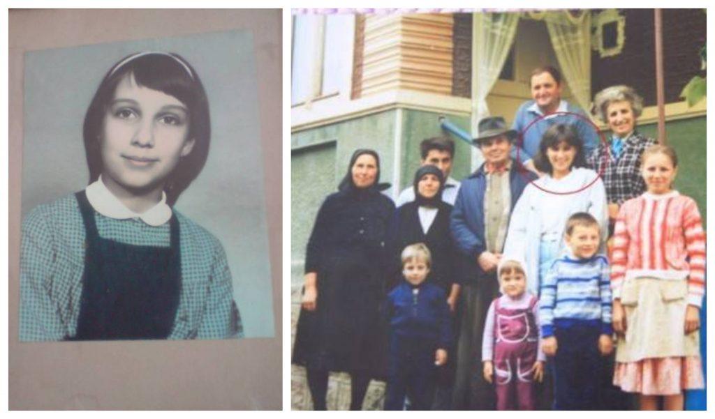 Colaj cu două fotografii în care apare Karmen Iohannis, pe vremea când era adolescentă © one.ro