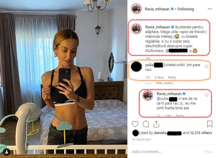 Flavia Mihășan a fost cerută de soție de Marius Moldovan înainte ca băiețelul lor să se nască © Instagram