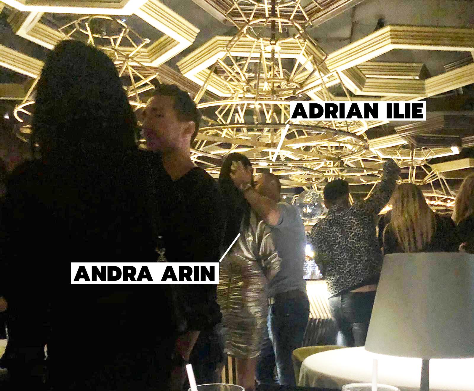 Adrian Ilie o sărută pe Andra Arin pe ringul de dans