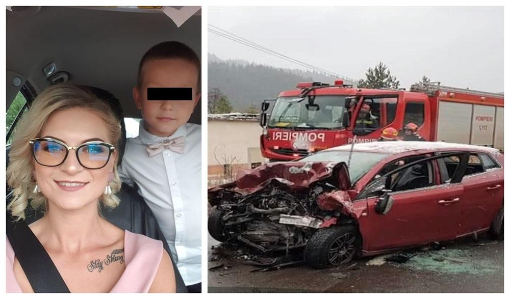 Accidentul în care Cristina Ciurcanu și băiețelul ei au murit s-a produs ieri dimineață, în jurul orei 07:50