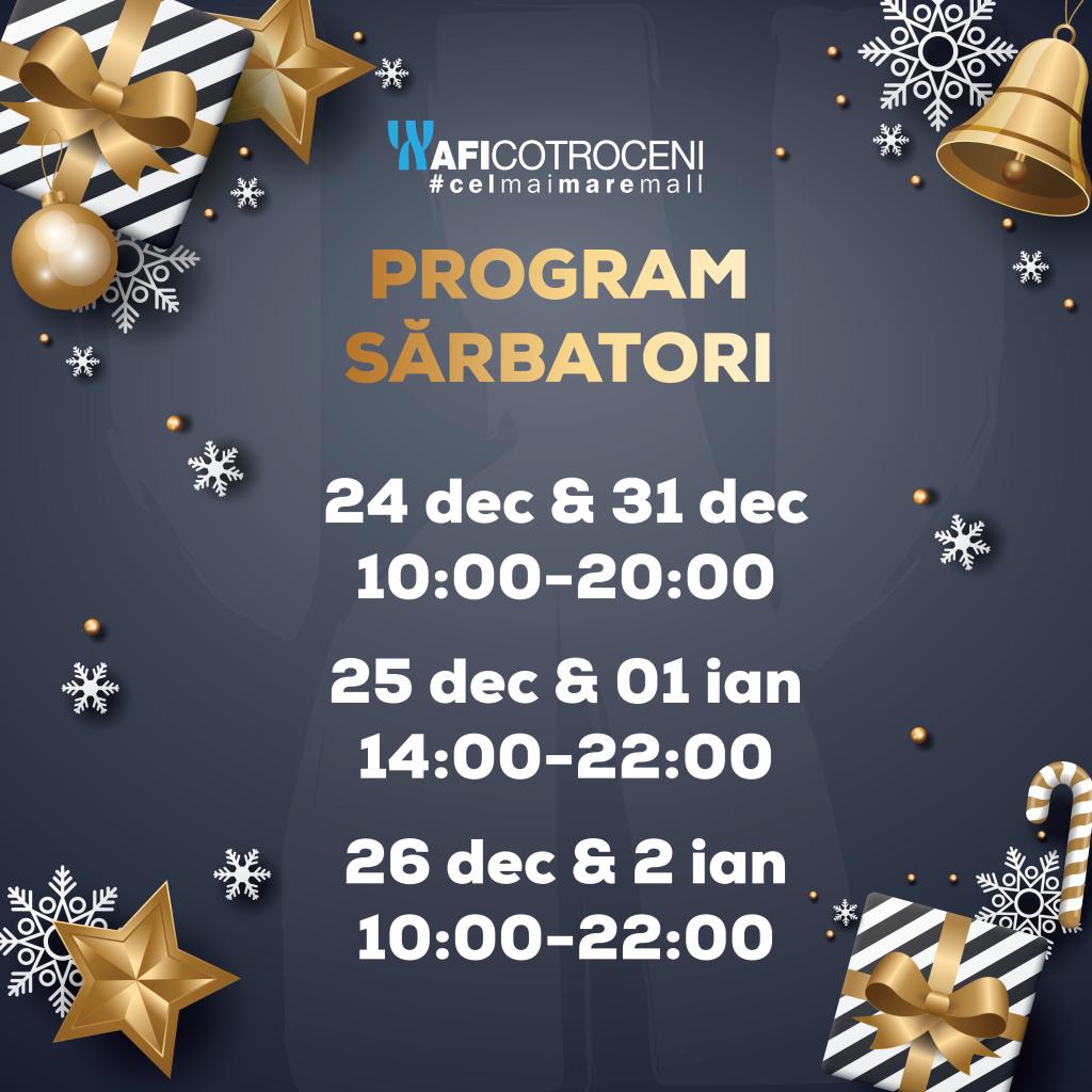 Mall-uri deschise Crăciun 25 decembrie Afi Palace Cotroceni
