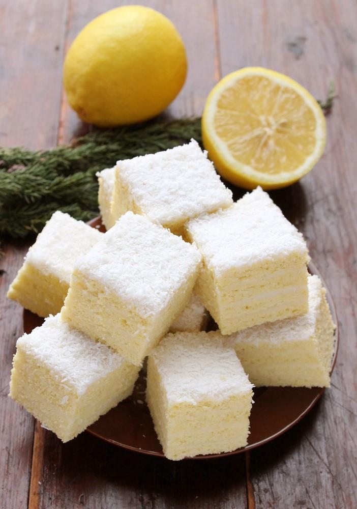 Prăjitură Albă ca zăpada cu lămâie