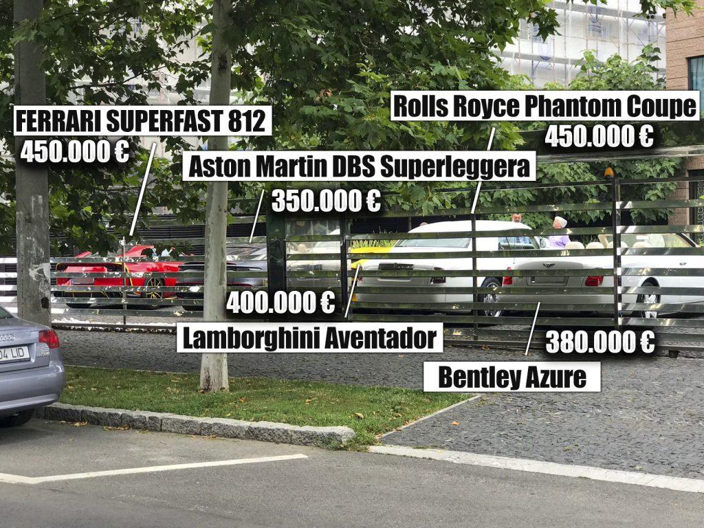 """În iulie, Dan Nicorescu și-a """"aliniat"""" super-mașinile de 2 mil. € în fața vilei din """"cartierul milionarilor"""""""