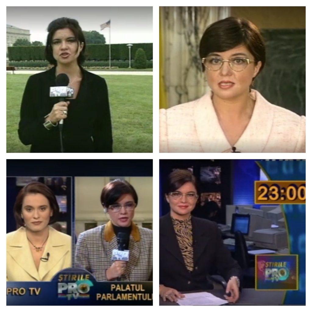 Imagini de colecție cu Cristina Țopescu la Pro TV, alături de Andreea Esca © PRO TV