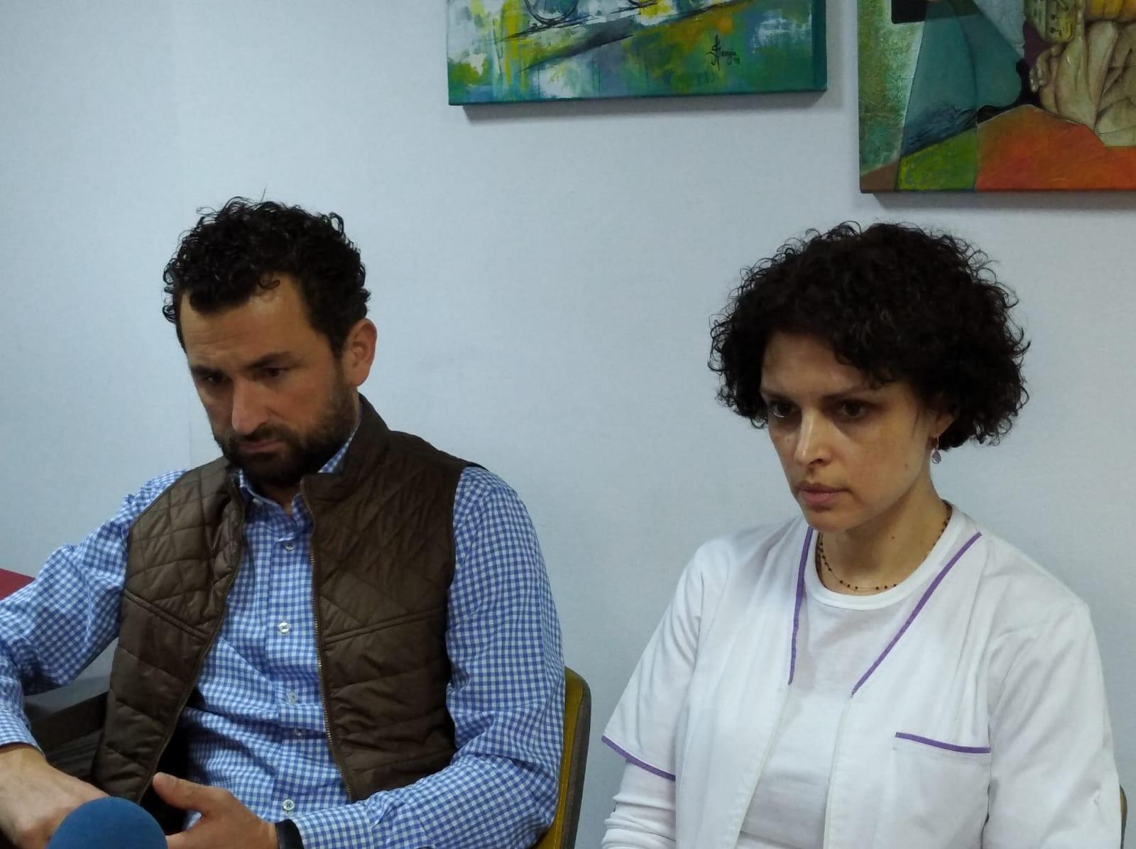 Managerul SJU Bacău, Adrian Popa și direcotrul medical, dr. Ioana Raluca Dinu