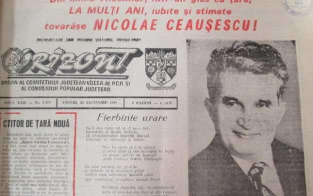 Ziua de 26 ianuarie de dinainte de căderea comunismului se transforma anual într-o sărbătoare naţională de mare amploare dedicată lui Nicolae Ceauşescu © adevarul.ro