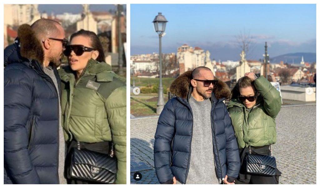 Antrenorul de fitness Cătălin Dobrescu și Oana Radu ©  Instagram