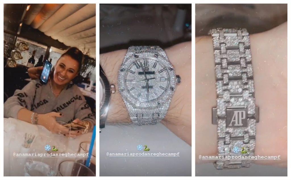 Abi Talent s-a filmat în timp ce ținea ceasul cu diamante albe al Anamariei Prodan © Instagram Stories