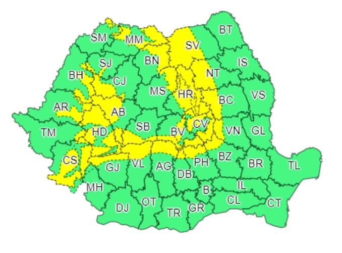 România, sub cod galben de ninsori până mâine seară! Județele în care se dezlănțuie iadul alb © Pro TV