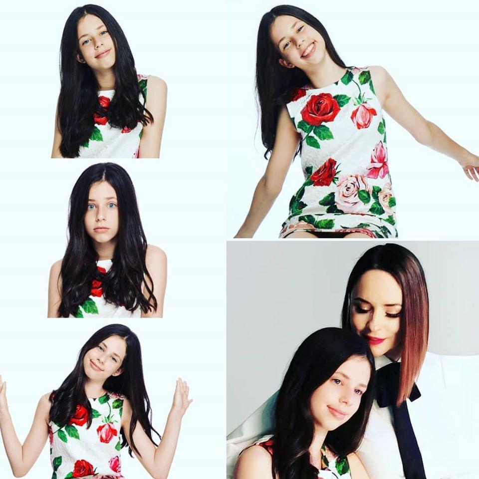 Violeta, fiica lui Stefan Banica si Andreea Marin a implinit 12 ani