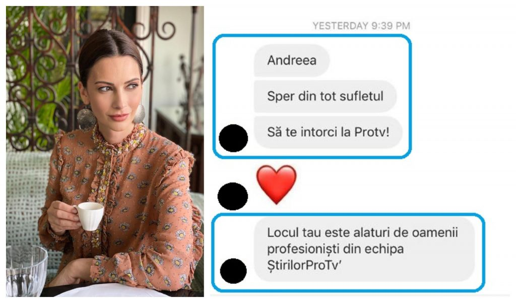 Unii dintre fani i-au mărturisit Andreei Berecleanu că își doresc ca ea să se întoarcă la Pro TV © Facebook
