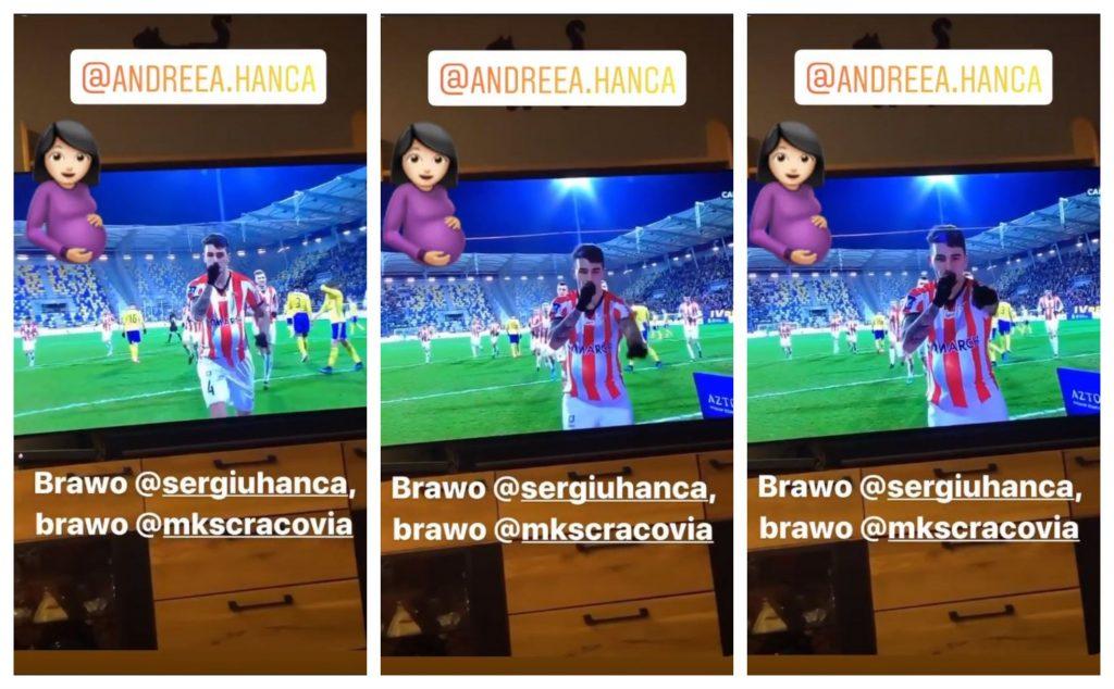 Momentul în care fotbalistul Serviu Hâncă a dezvăluit că soția lui este însărcinată iar © Instagram Stories