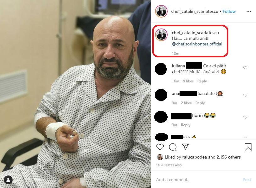 Cătălin Scărlătescu a ajuns de urgență astăzi la spital © Instagram