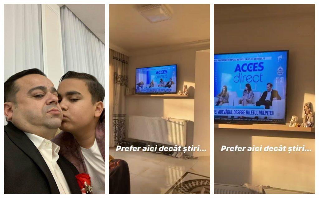 Adrian Simionescu Jr. a dezvăluit public că preferă să se uite la emisiunile cu Vulpița decât să urmărească jurnalele de știri © Facebook/Instagram
