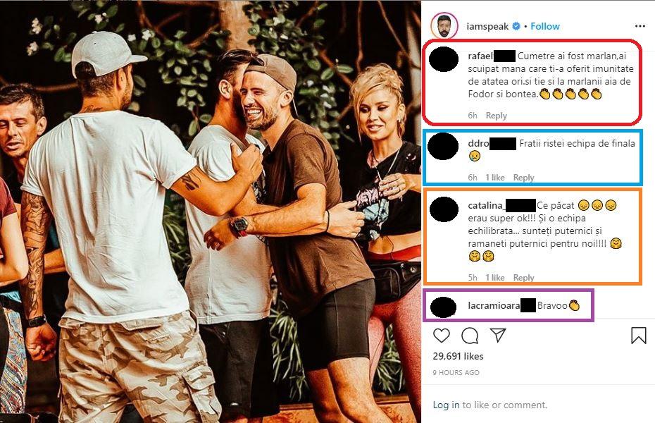 """Speak a fost criticat azi-noapte, după ce a făcut o postare despre ediția trecută de la """"Asia Express"""" © Instagram"""