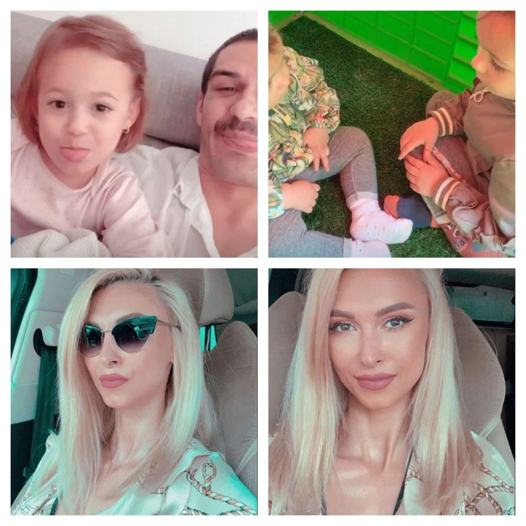 George Burcea și-a revăzut astăzi fiicele pe care le are cu fosta parteneră de viață. Andreea Bălan a plecat de acasă când actorul a venit la reședința ei © Instagram Stories