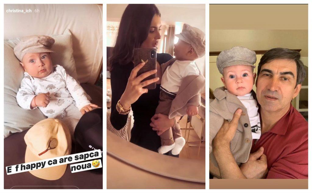 Christina Ich, Alexandru Pițurcă și fiul lor, Noah, s-au întâlnit azi cu Victor Pițurcă © Instagram Stories