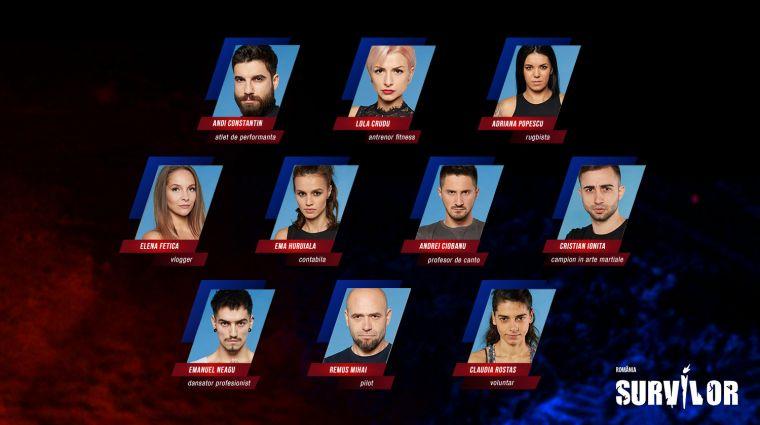 """Cei 10 """"Războinici"""" aleși pentru """"Survivor România"""" 2020 de la Kanal D © wowbiz.ro"""