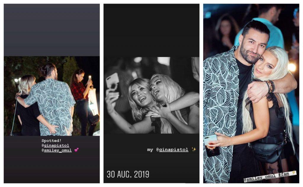 Gina Pistol și Smiley, fotografiați în ipostare tandre de cântăreața JO la un eveniment monden, organizat în vara anului trecut © Instagram Stories