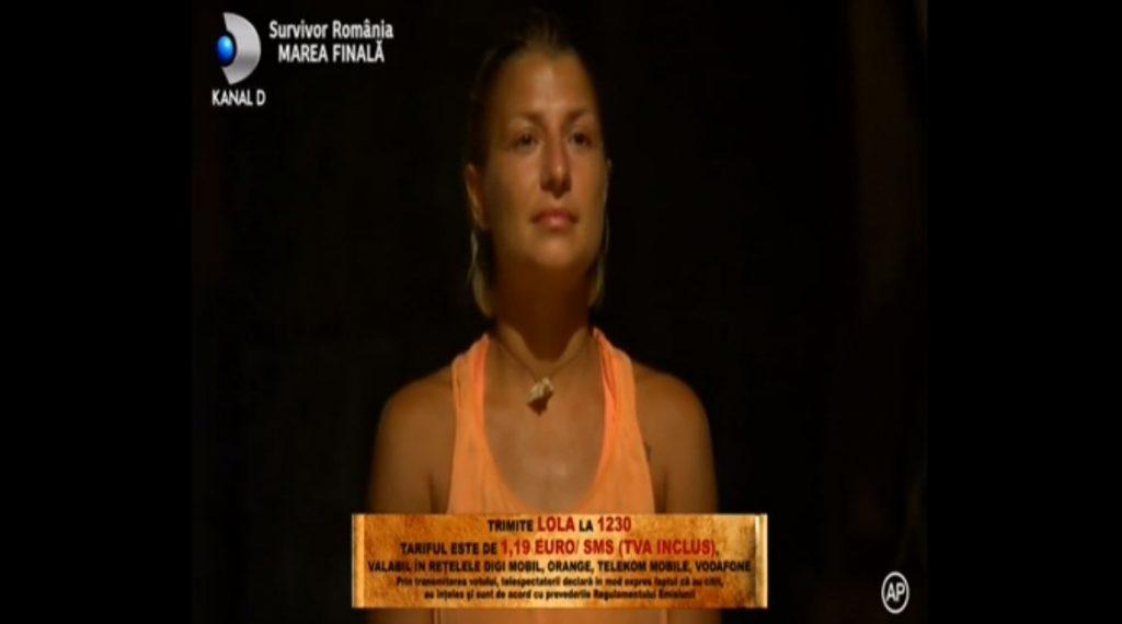 """Așa o puteți vota pe Lola în finala """"Survivor România"""" © Kanal D"""