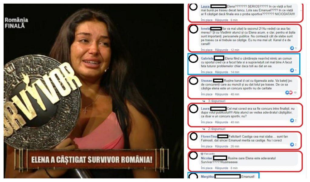 """Unii dintre fanii de la """"Survivor România"""" sunt furioși că Elena Ionescu a câștigat trofeul și marele premiu și susțin că, de fapt, artista nu le merită © Facebook"""