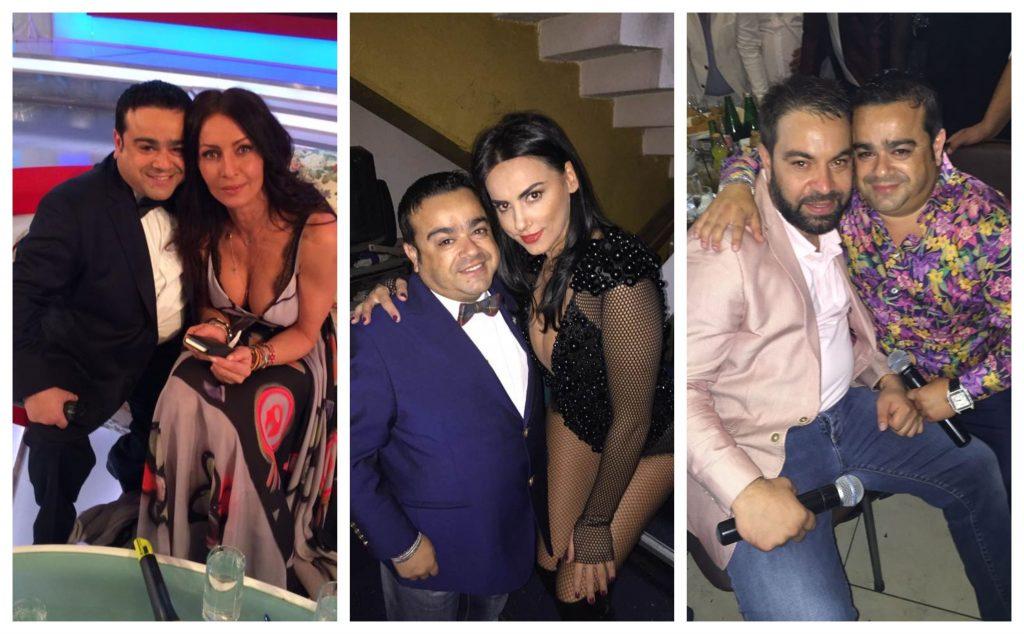 Pozele în care Adi Minune apare lângă Mihaela Rădulesc și, ulterior, alături de Lavinia Pîrva au fost făcute în 2014, iar cea cu Florin Salam, în 2015 © Facebook