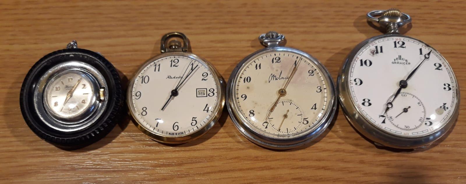 O mică parte din ceasurile de colecție ale giurgiuveanului