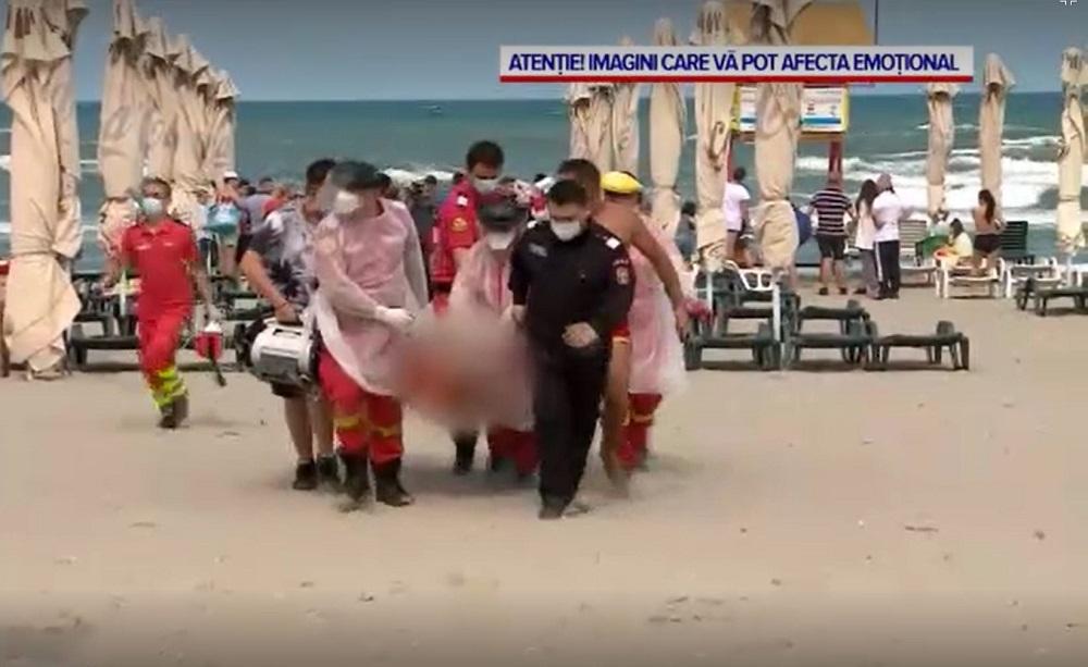 Salvamarii au reușit să îl găsească pe prietenul băiatului de 12 ani la scurt timp după ce s-a dat alarma pe plaja din Mamaia © captură video Pro TV
