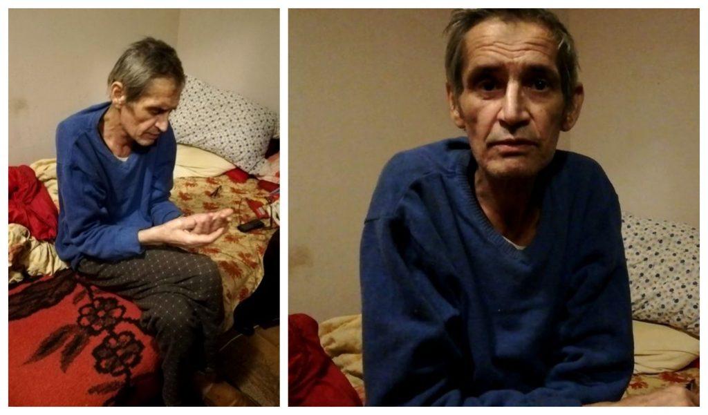 Acestea sunt imagini realizate în cadrul ultimului interviu cu Emil Gabor, în locuința în care stătea cu chirie © ciao.ro