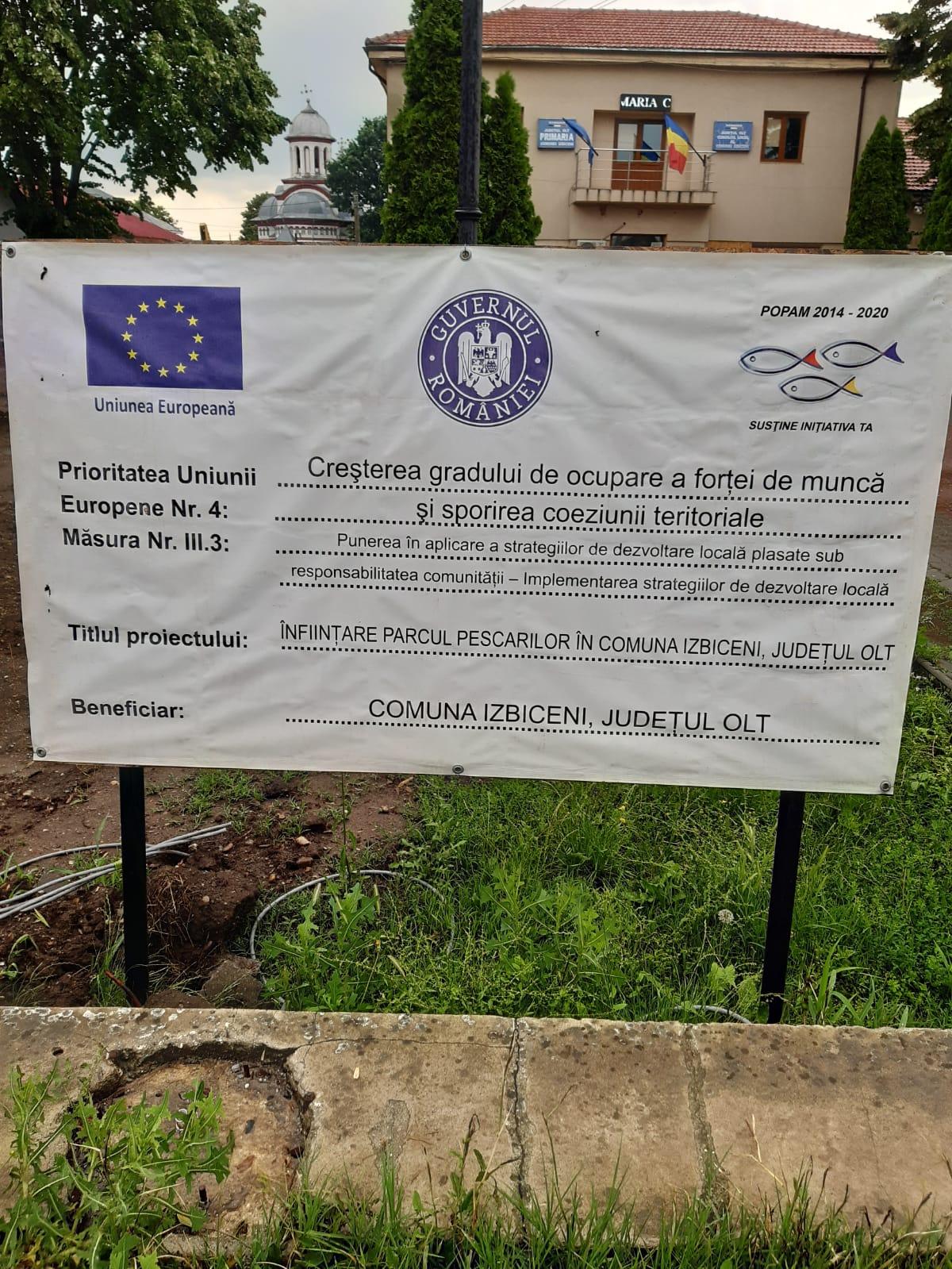 Primăria unei comune de legumicultori a obținut fonduri europene pentru un parc al... pescarilor