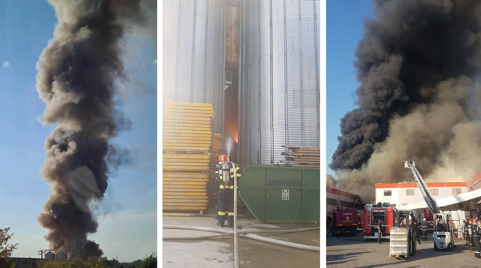Incendiul din Bragadiru. Pompierii inca mai sunt la fata ...  |Incendiu Bragadiru