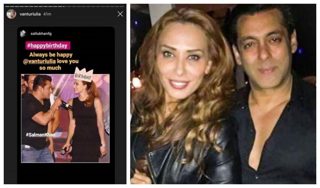 Iulia Vântur a publicat o fotografie rară în care apare alături de Salman Khan pe o scenă unde au făcut un duet © Instagram Stories / bollywoodshaadis.com