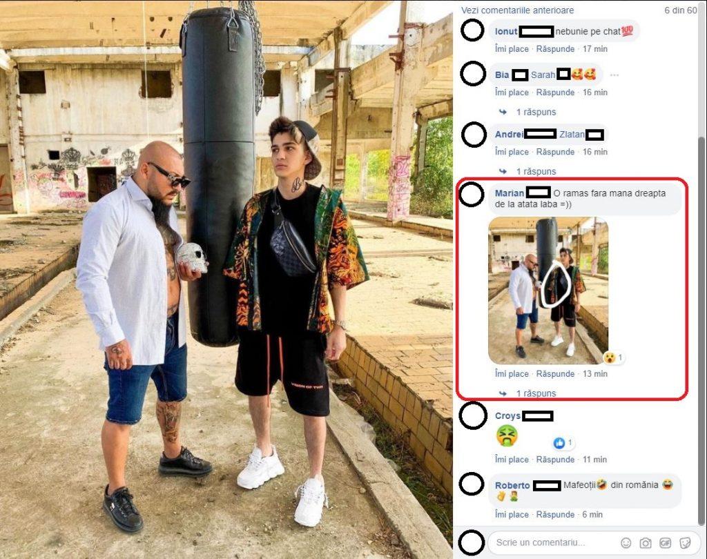 Când a văzut această fotografie, unul dintre internauți a făcut o glumă deocheată la adresa lui Abi Talent © Facebook