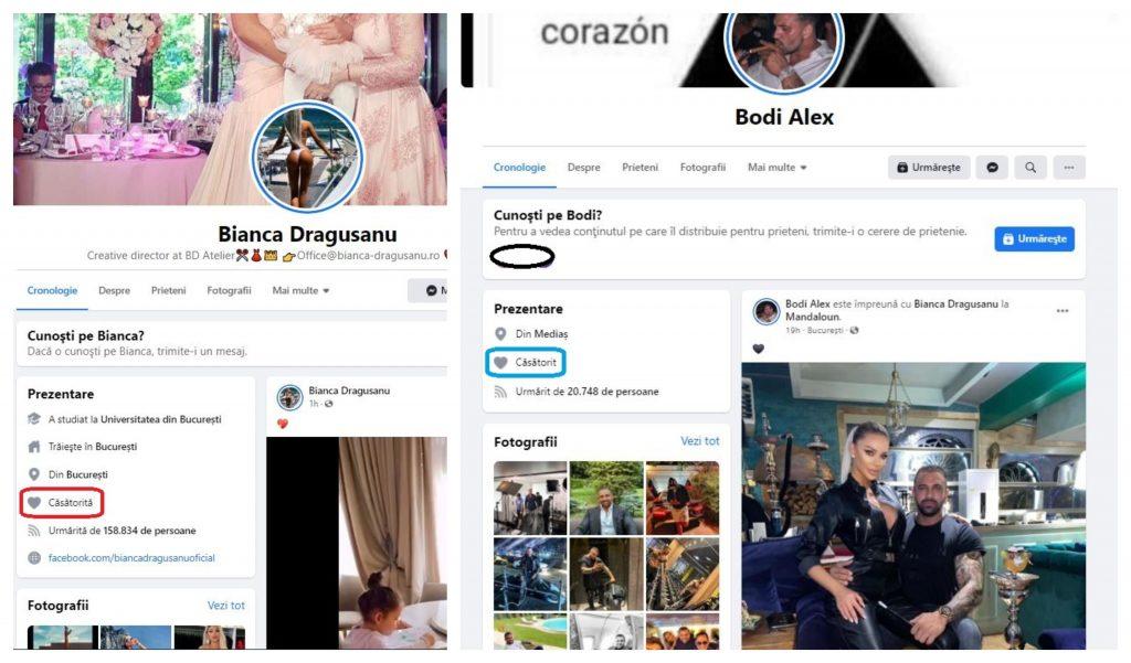 Bianca Drăgușanu și Alex Bodi și-au modificat statusul relației pe rețeaua de socializare fondată de americanul Mark Zuckerberg © Facebook