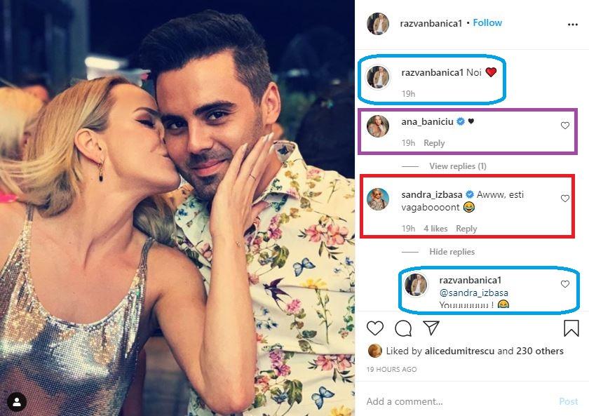 Fosta gimnastă Sandra Izbașa are o relație cu actorul Răzvan Bănică, nepotul lui Ștefan Bănică Junior © Instagram