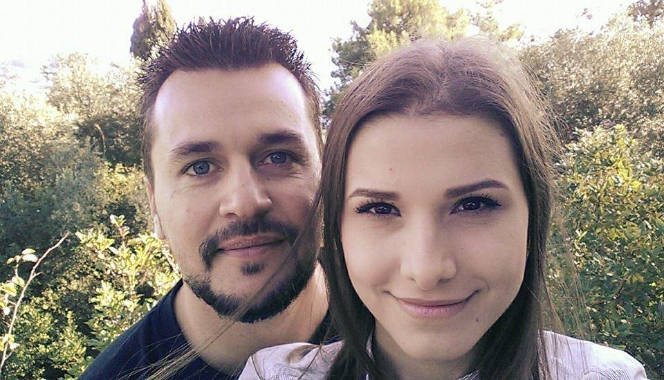 Actrița Ioana Picoș și soțul ei, în vremurile bune