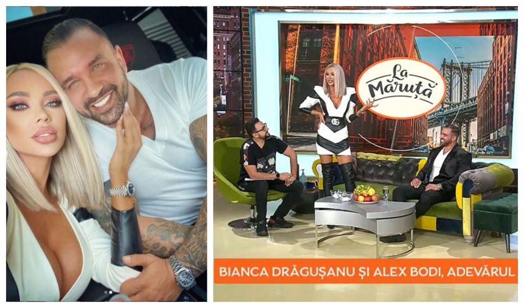 Bianca Drăgușanu și Alex Bodi au fost invitați azi la Cătălin Măruță, însă au refuzat să comenteze imaginile filmate de paparazzii de la CANCAN.RO din ziua agresiunii © Instagram / Pro TV