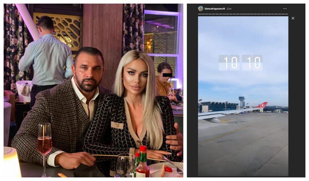 Bianca Drăgușanu și Alex Bodi au plecat în vacanță astăzi, după episodul traumatizant petrecut în urmă cu două zile © Facebook / Instagram Stories