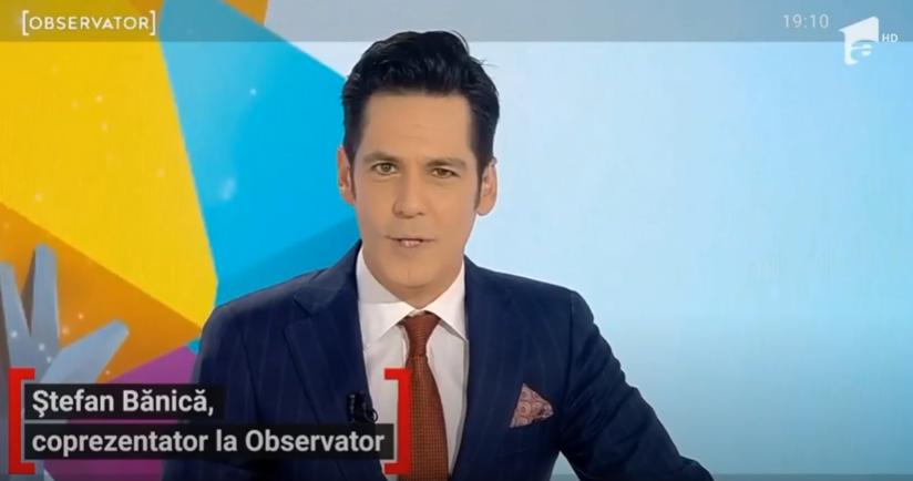 Ștefan Bănică, la pupitrul știrilor Antenei 1, împreună cu Sandra Stoicescu. Cum rămâne cu X Factor - Cancan.ro
