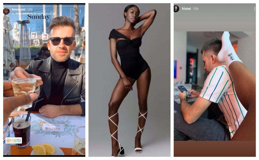 """Naomi Hedman s-a pozat alături de iubitul ei într-o poziție incitantă. Imaginea HOT a fost făcută publică de Florin Ristei care se află în prezent în juriul de la """"X Factor"""" © Instagram Stories / Instagram / Instagram Stories"""