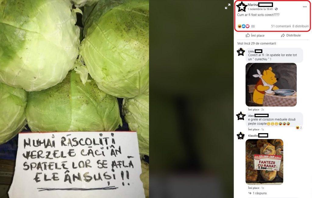 Această fotografie care a fost realizată într-o piață din Brăila a devenit virală pe rețelele de socializare © Facebook