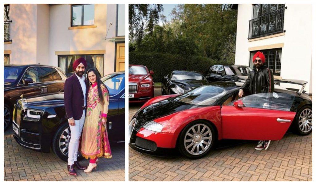 Reuben Singh este directorul executiv al companiilor alldayPA și Isher Capital și are o colecție impresionantă de autoturisme de lux © Instagram