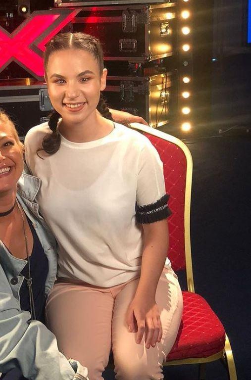 Andrada Precup, în timpul repetiţiilor de la X Factor. Sursa foto: Instagram