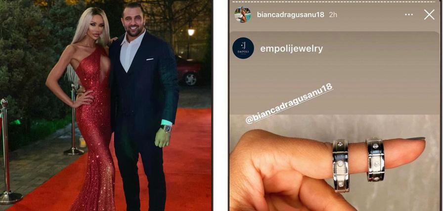 """Bianca Drăgușanu a distribuit ieri imaginea cu verighetele, iar unii dintre fanii ei sunt de părere că fosta prezentatoare s-ar pregăti să își facă nunta. Întrebarea multora dintre cei care i-au văzut postarea este: """"Mirele ei va fi Alex Bodi?"""" © Facebook / Instagram Stories"""