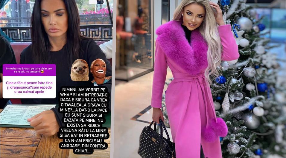Oana Zăvoranu a dezvăluit azi că a făcut pace cu Bianca Drăgușanu după ce au purtat o discuție serioasă pe WhatsApp © Instagram Stories & Facebook