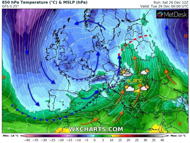 În funcție de evoluția fenomenelor, meteorologii vor reveni cu avertizări în cursul zilelor următoare © Facebook / Severe Weather Alert - România