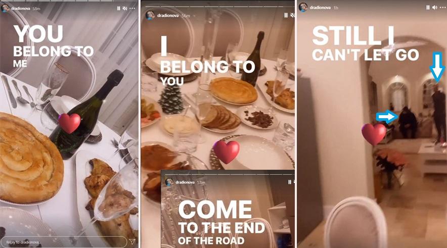 Daria Radionova i-a pregătit o cină copioasă în miez de noapte lui Alex Bodi. La masă au fost prezenți și câțiva dintre apropiații milionarului din Mediaș © Instagram Stories